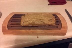 Finished sliced peanut bread