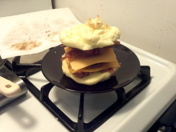 Finished Oopsie Breakfast Sandwich
