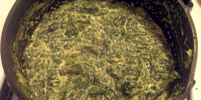 Finished Creamy Cheesy Spinach