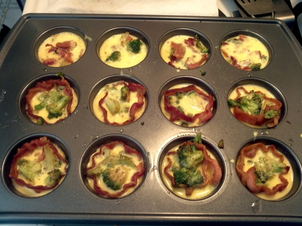 Filled Muffin Tins