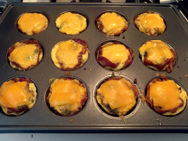 Finished Bacon Muffins