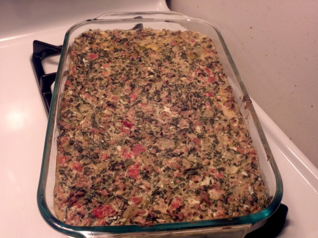 Finished Mexican Spinach Casserole