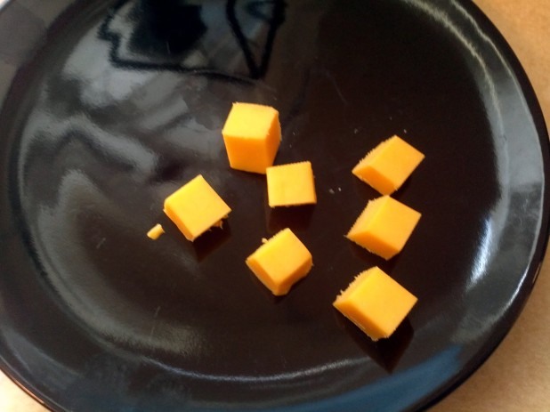 Cut up cheese stick
