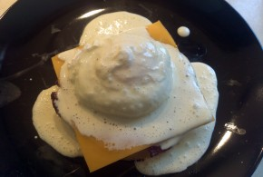 Finished Caveman Eggs Benedict!