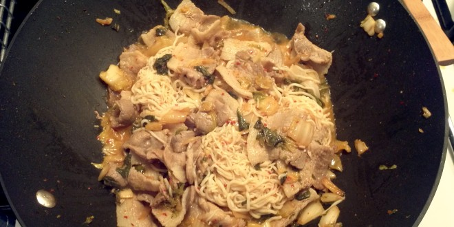Finished Kimchi Shirataki Noodles