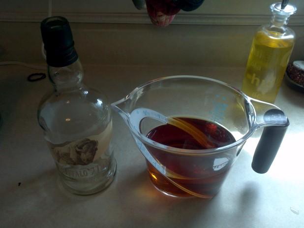 750 ml of Bourbon