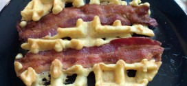 Finished Bacon Almond Waffle