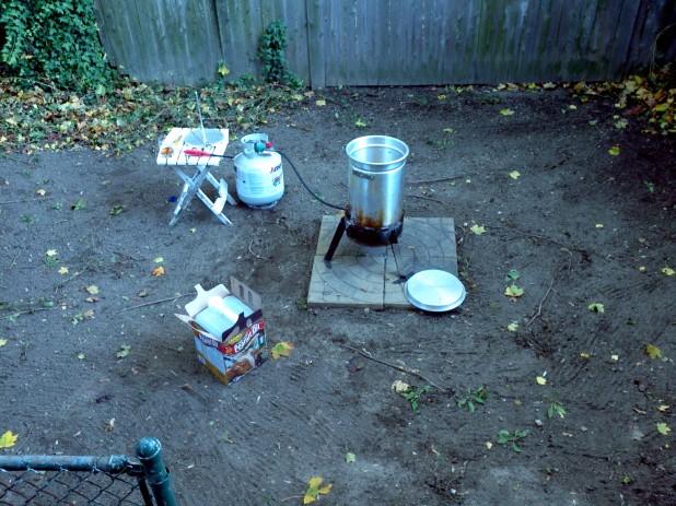 Turkey Fryer Setup