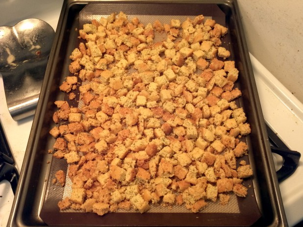 Finished Almond Croutons