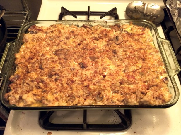 Finished Kitchen Sink Keto Casserole