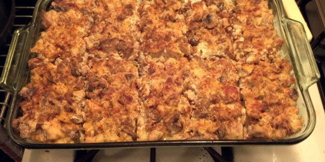 Cut up Kitchen Sink Keto Casserole