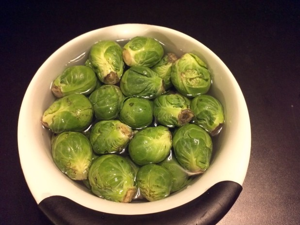 Wash Brussels Sprouts