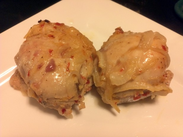 Finished Spicy Chicken Thighs