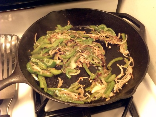 Browned Onions and Peppers