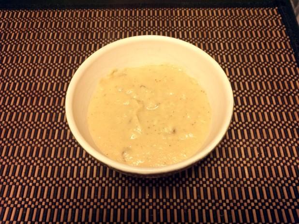 Finished Cheddar Cauliflower Soup
