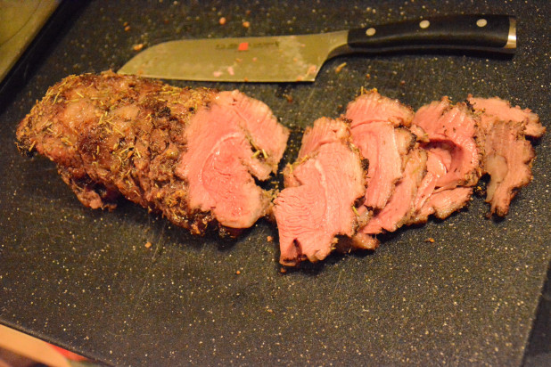 Sliced Roasted Leg of Lamb