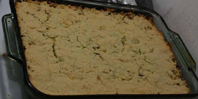Finished Brussel Sprout Casserole