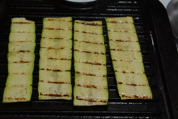 Grilling Zucchini Strips