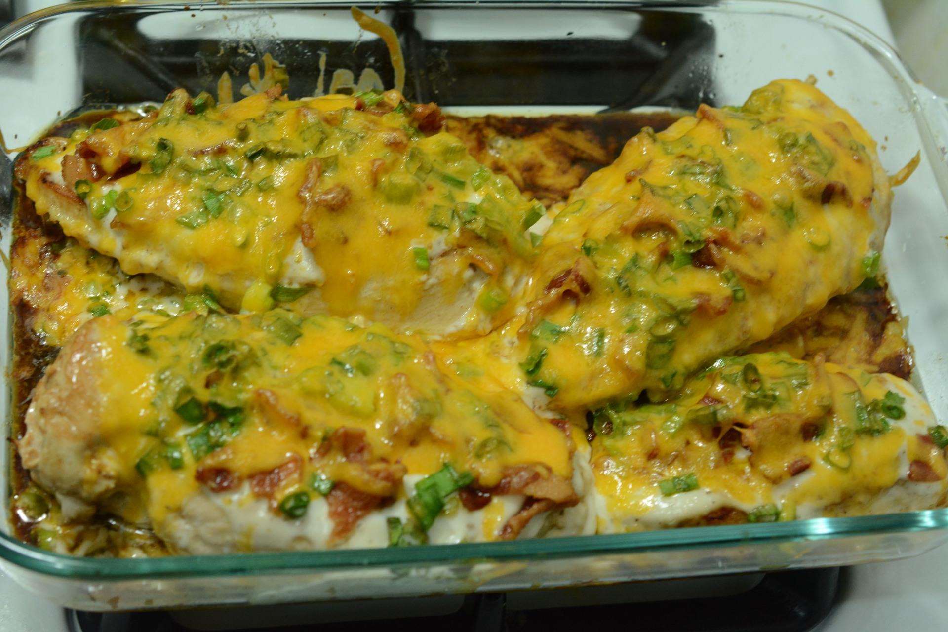 Loaded Baked Chicken Caveman Keto