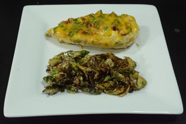 Finished Loaded Baked Chicken