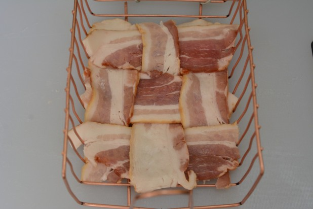 Bacon Weave on Grill basket