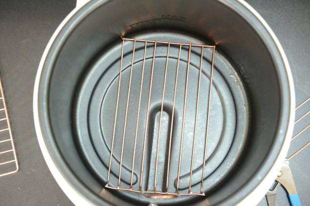 Bent Basket in Fryer