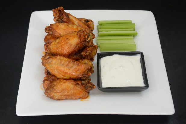 Finished Crispy Wings
