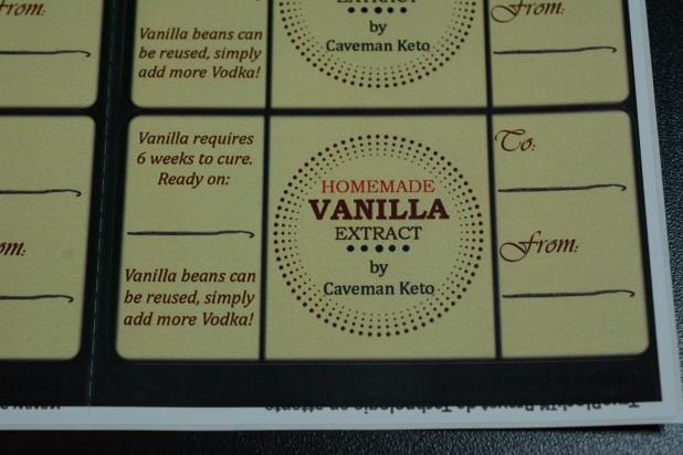Close View of Vanilla Label