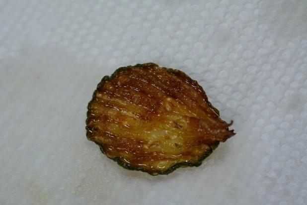 Fried Thin Ruffle Cut Zucchini