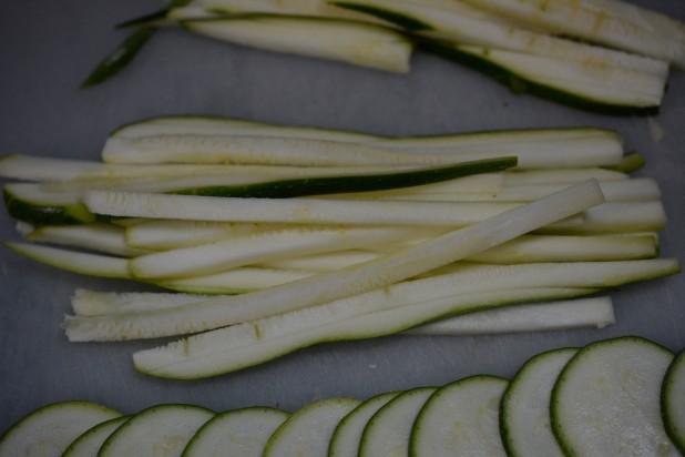 Julienned Zucchini
