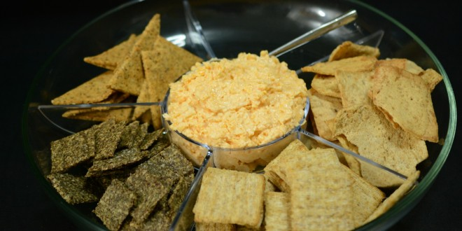 Lizzie's Cheese Dip with Crackers