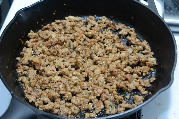 Frying Sausage