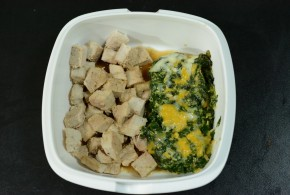 Pork Chop lunch with Spinach Crap