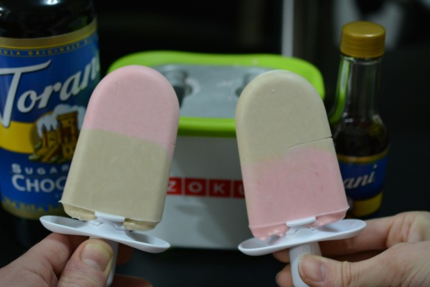 Rasberry and Chocolate Popsicles