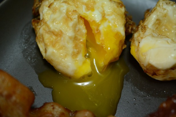 Inside of Deep Fried Egg