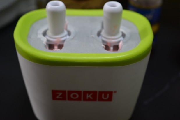Smashed Raspberry Lemonade Poptail in Zoku