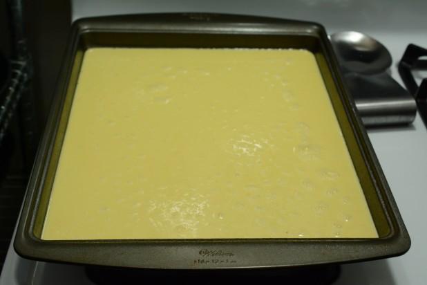 Egg Mixture in Pan