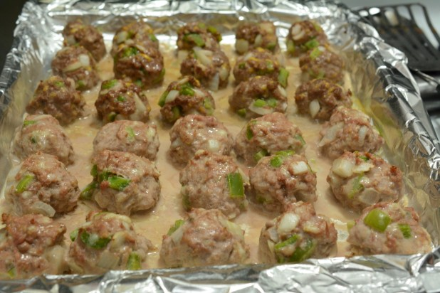 Meatballs on Tray