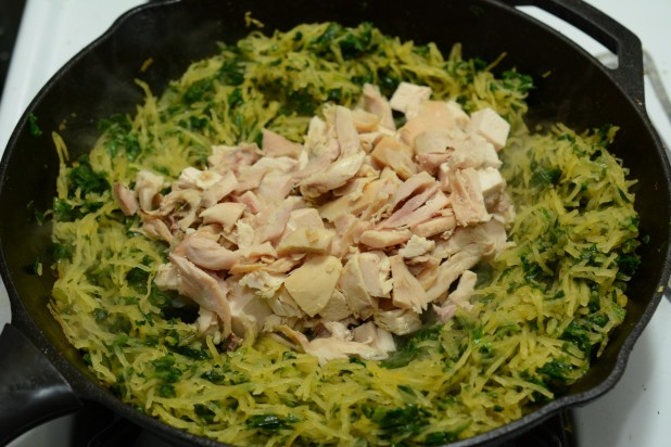 Chicken with Spaghetti Squash and Chicken