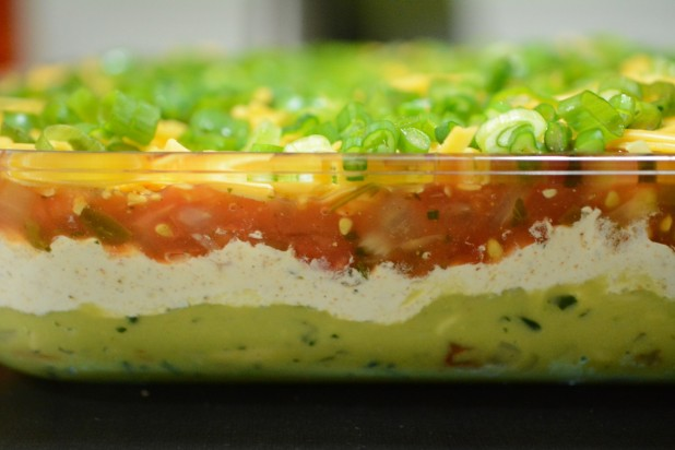 Side view of 5-layer Keto Dip