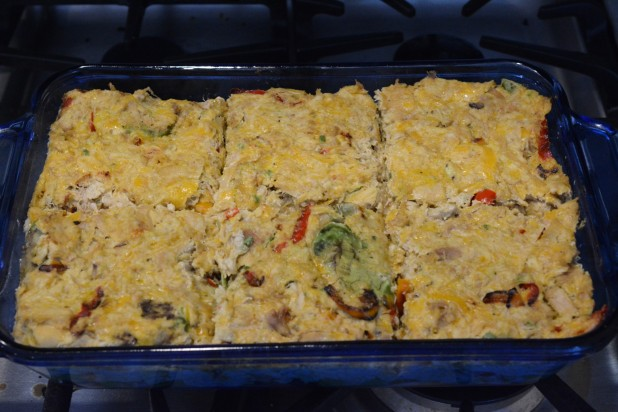 Chicken Avocado Casserole divided for Lunch