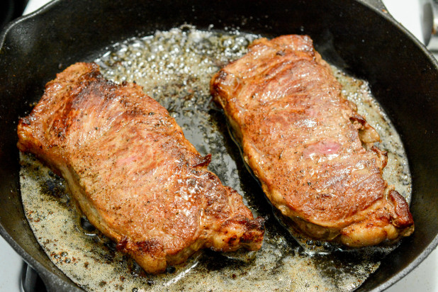 Steaks with Crust