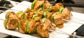 Sunflower Butter Pork Kabobs