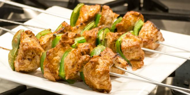 Sunflower Butter Pork Kabobs