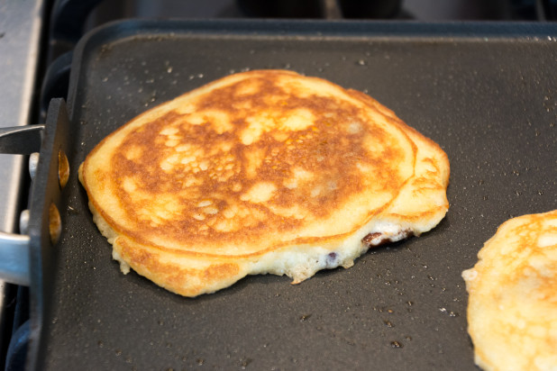 Flipped Bacon Keto Pancake