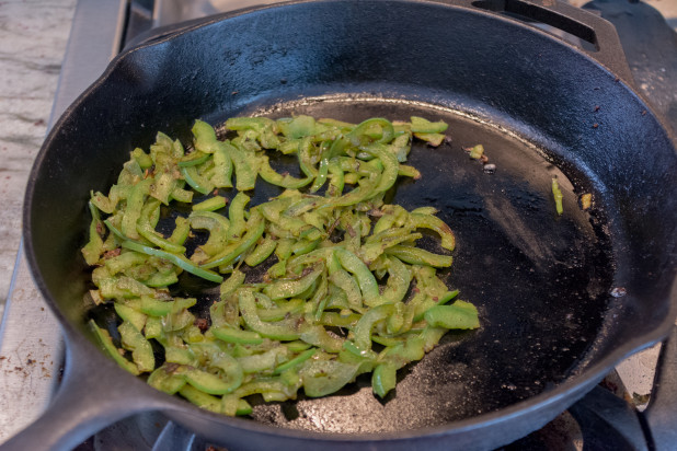 Browning Green Peppers