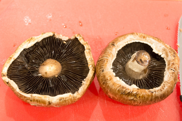 De-stemmed Portobello Mushrooms