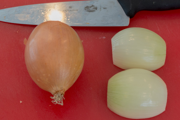 Prepping Onions for Food Processor