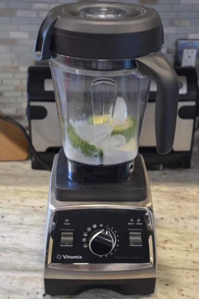 Avocado Smoothie Ingredients on Vitamix